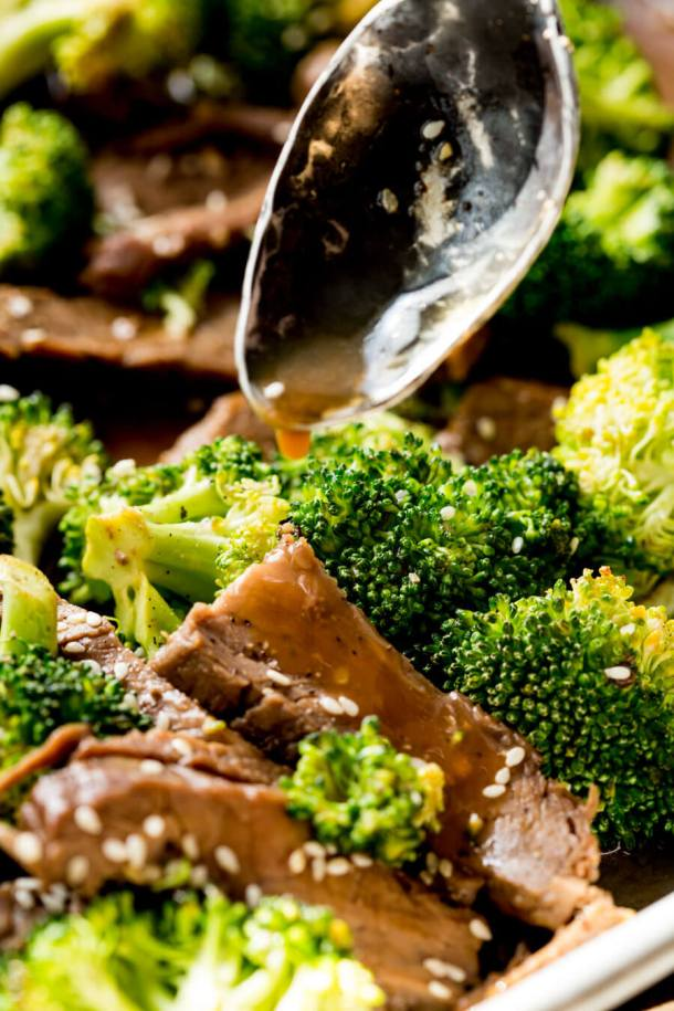 Beef and Broccoli Sheet Pan Dinner | Easy Peazy Mealz