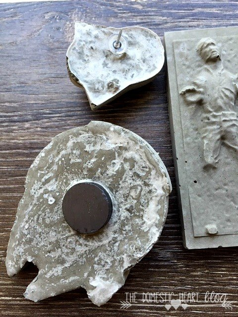 Concrete StarWars Magnets and Pushpins | Home Talk