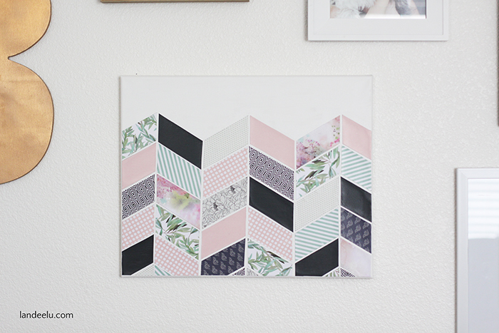 Darling and inexpensive DIY wall art for a girl's bedroom!