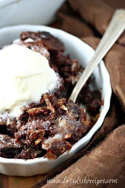 German Chocolate Dump Cake | Lets Dish Recipes