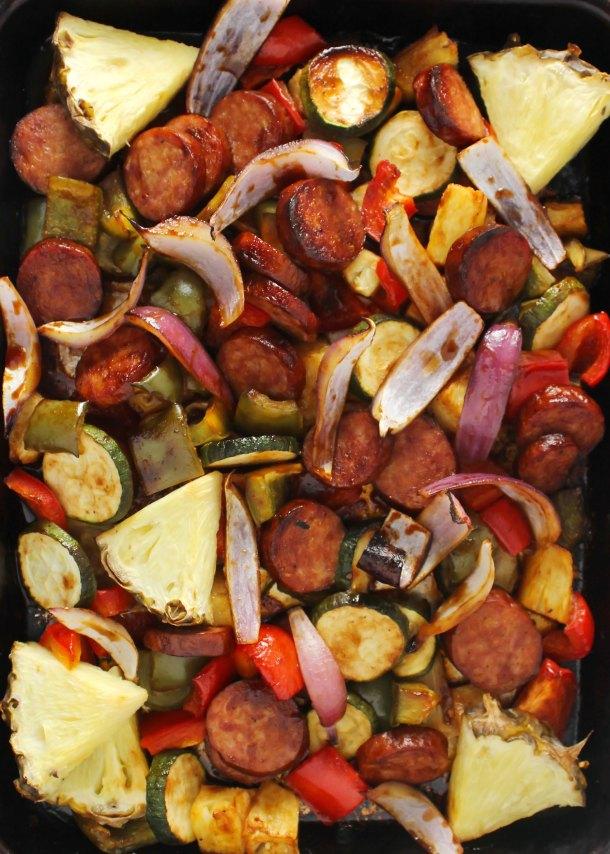 Hawaiian Barbecue Sheet Pan Dinner | Aimee Mars
