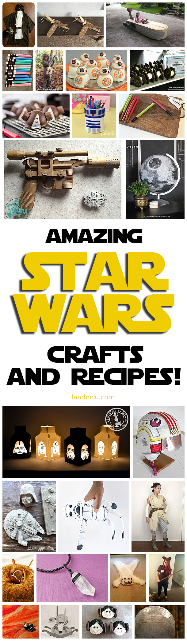 Awesome crafts and recipes to celebrate May the 4th in full blown Star Wars party mode! #starwars #starwarsparty #starwarscrafts #starwarsrecipes #birthdayparty #birthdaypartytheme #partyideas #partyfood #partycrafts