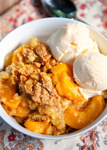 Peach Cobbler Dump Cake | Plain Chicken