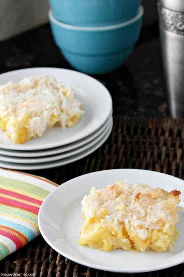 Piña Colada Dump Cake | Snappy Gourmet