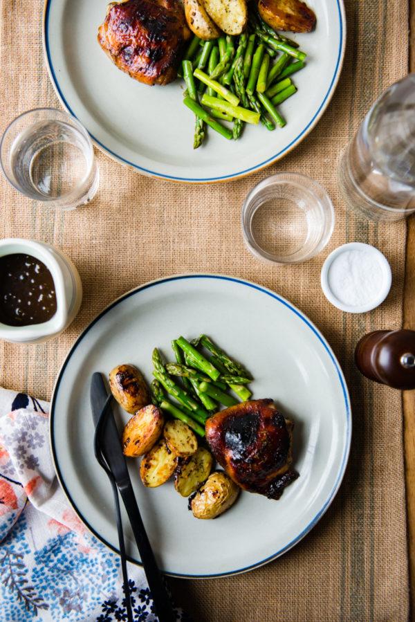 Sheet Pan Rosemary Balsamic Chicken and Veggies | Design Mom