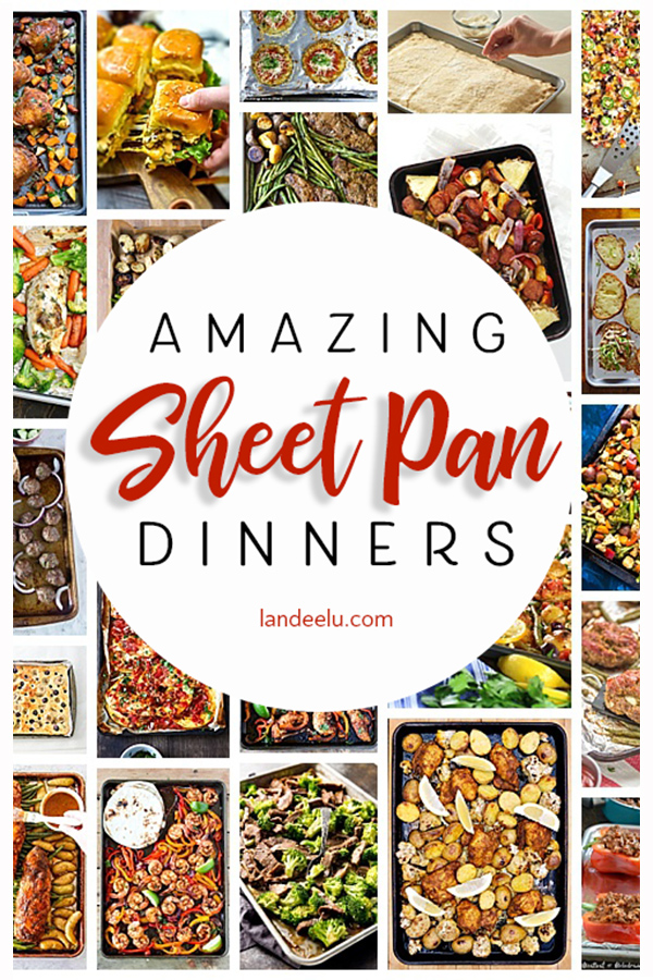 Load up a cookie sheet with veggies and protein and you can make an amazing meal in no time! Check out these delicious sheetpan dinners to make dinnertime easier and faster! #sheetpandinners #sheetpansuppers #easydinnerideas #quickdinnerideas #healthydinnerideas #dinner #sheetpanrecipes