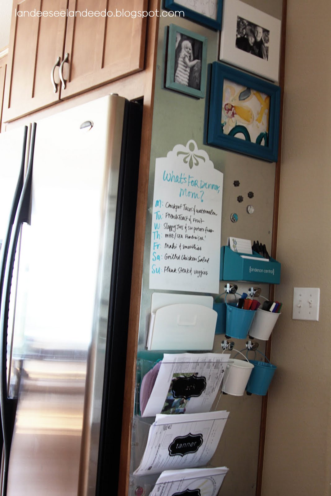 kitchen whiteboard trashcan magnetic command center accessories landeelu