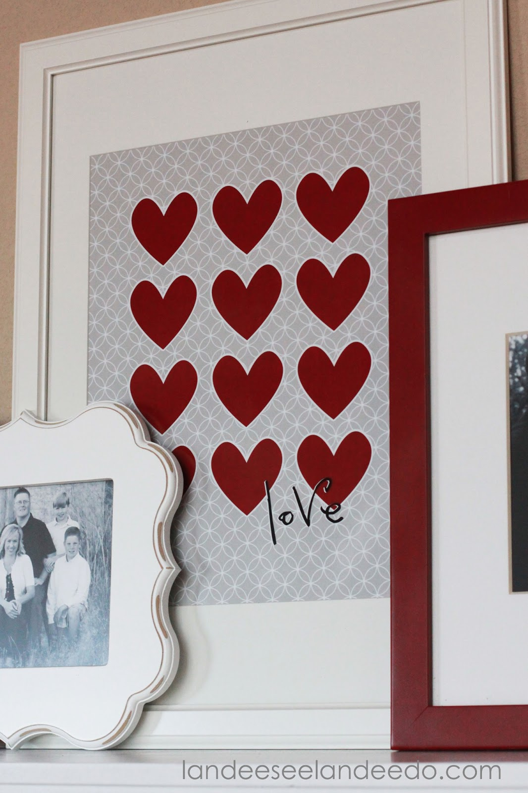 Valentine S Day Mantel Decor And Printable