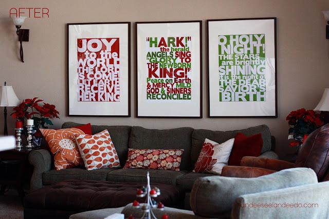 Go BIG or go HOME! Christmas Song Lyrics Free Printables | Landeelu