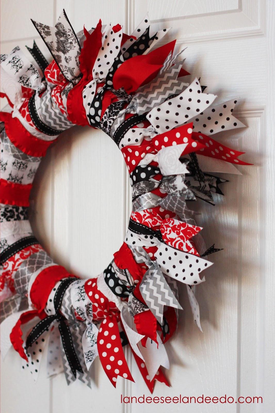 Valentines Day Ribbon Wreath