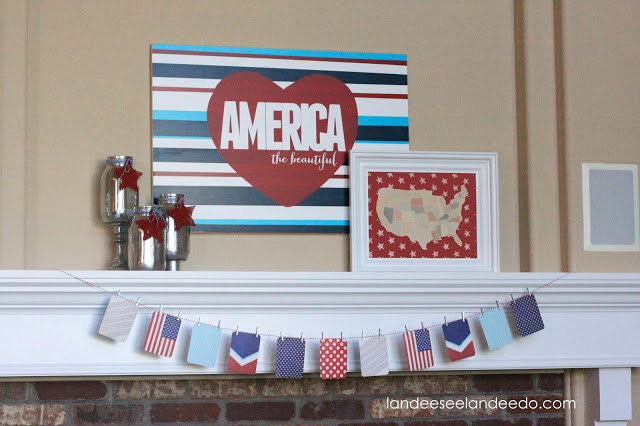 America The Beautiful - Patriotic Mantel Decor Ideas and Crafts | Landeelu