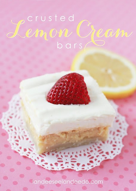 Crusted Lemon Cream Bars Recipe - these are SO YUMMY!