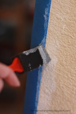 How to Paint the PERFECT Stripe   landeelu.com Two tried and true methods to get that perfect, clean stripe every time!