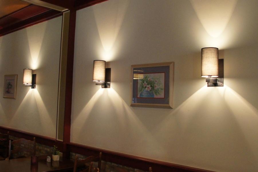 Design wandlamp handgemaakt smeedijzer lampenkap