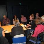 Rege Teilnahme am Tischgespräch mit Petra Paschinger, Leiterin des Kleistforums