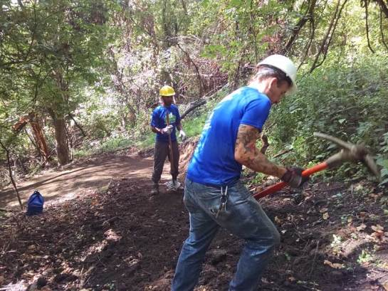 Crew working a trail