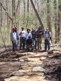 Crew with completed trail at Bear Run