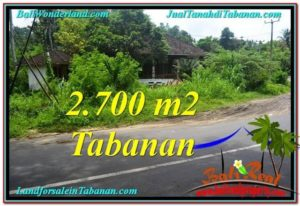 Exotic PROPERTY 2,700 m2 LAND FOR SALE IN Tabanan Kerambitan TJTB299