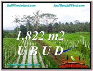 Affordable PROPERTY UBUD BALI 1,822 m2 LAND FOR SALE TJUB574