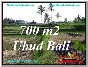 FOR SALE Beautiful 700 m2 LAND IN UBUD BALI TJUB666