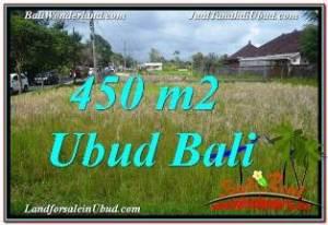 FOR SALE Affordable 450 m2 LAND IN UBUD BALI TJUB671