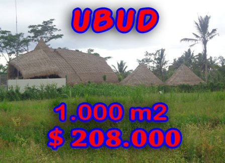 Land for sale in Ubud Bali 1,000 sqm Stunning close to Ubud monkey forest
