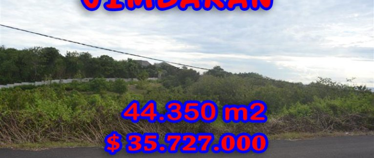 Property in Bali for sale, Extraordinary land for sale in Jimbaran Bali  – 44.350 m2 @ $ 806
