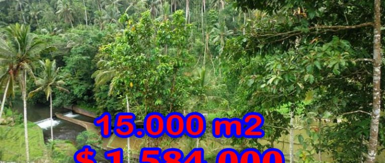 Bali land for sale, Fantastic view in Ubud Tampak Siring – TJUB273