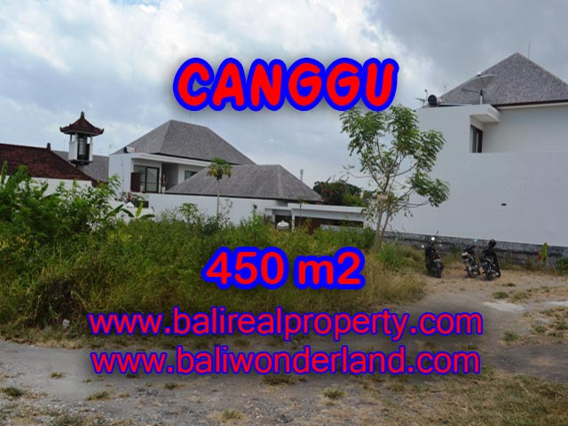 Magnificent Property for sale in Bali, land for sale in Canggu Bali  – 450 sqm @ $ 850