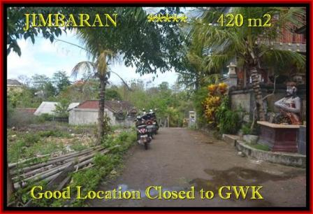Beautiful PROPERTY 420 m2 LAND IN JIMBARAN BALI FOR SALE TJJI083