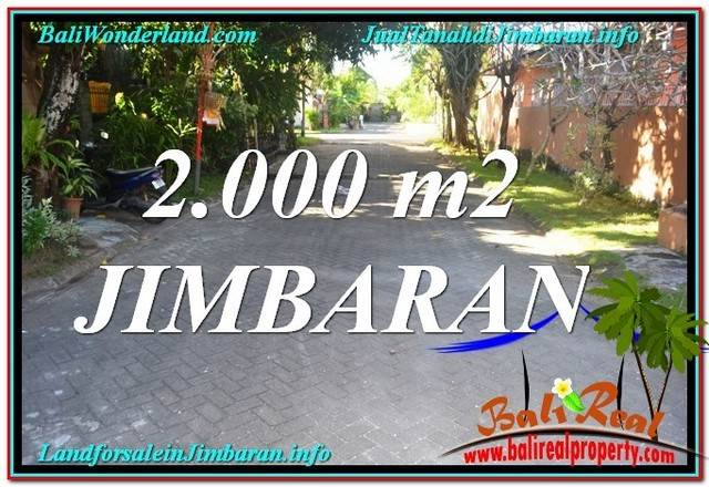 FOR SALE Affordable PROPERTY 2,000 m2 LAND IN Jimbaran Uluwatu  BALI TJJI115