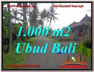 Beautiful 1,000 m2 LAND FOR SALE IN UBUD BALI TJUB604