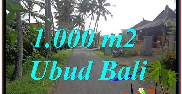 Affordable UBUD 1,000 m2 LAND FOR SALE TJUB604