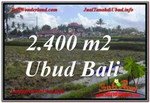 Affordable PROPERTY UBUD BALI 2,400 m2 LAND FOR SALE TJUB620