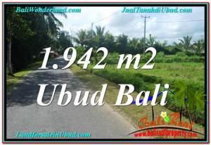 Beautiful PROPERTY 1,942 m2 LAND FOR SALE IN Ubud Pejeng TJUB626