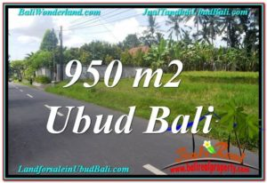 Exotic 950 m2 LAND FOR SALE IN UBUD BALI TJUB648