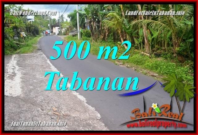 FOR SALE Magnificent 500 m2 LAND IN Tabanan Kerambitan BALI TJTB362