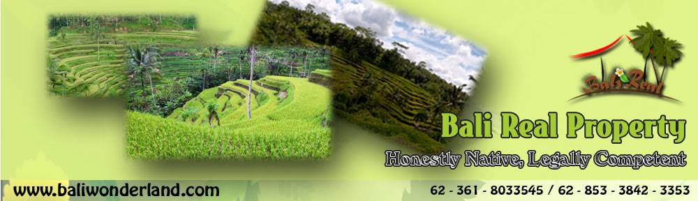 Land for sale in Canggu Jimbaran Ubud Tabanan by Bali Real Property