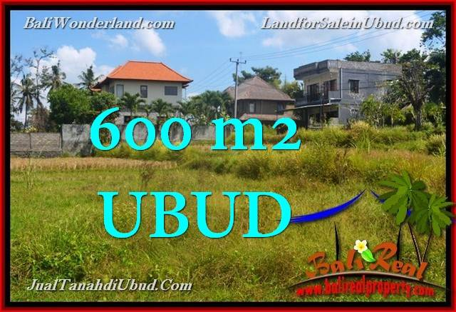 Exotic PROPERTY 600 m2 LAND FOR SALE IN UBUD TJUB664