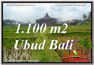 Exotic PROPERTY 1,100 m2 LAND SALE IN SENTRAL UBUD TJUB670