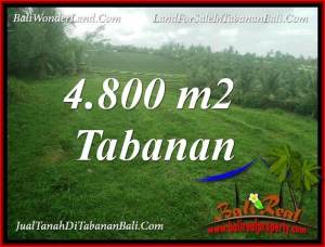 Affordable 4,800 m2 LAND IN TABANAN FOR SALE TJTB387