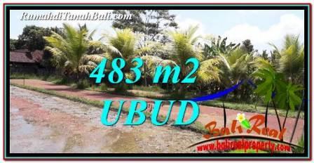Exotic UBUD BALI 483 m2 LAND FOR SALE TJUB752