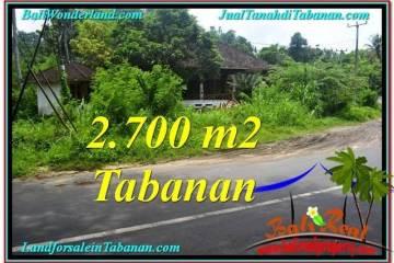 Beautiful 2,700 m2 LAND IN TABANAN BALI FOR SALE TJTB299