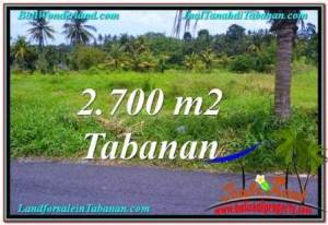 2,700 m2 LAND IN Tabanan Kerambitan FOR SALE TJTB301