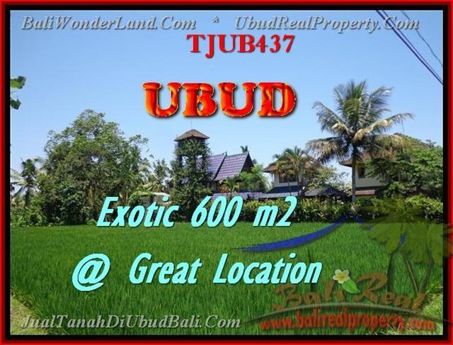 Beautiful PROPERTY 600 m2 LAND FOR SALE IN UBUD BALI TJUB437