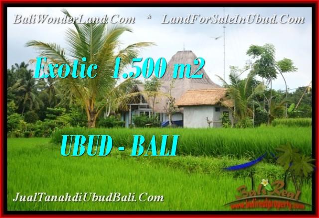 Beautiful PROPERTY Ubud Pejeng BALI 1,500 m2 LAND FOR SALE TJUB541