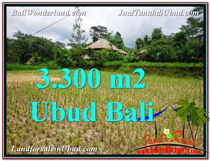 Exotic PROPERTY 3,300 m2 LAND FOR SALE IN Ubud Tampak Siring TJUB562