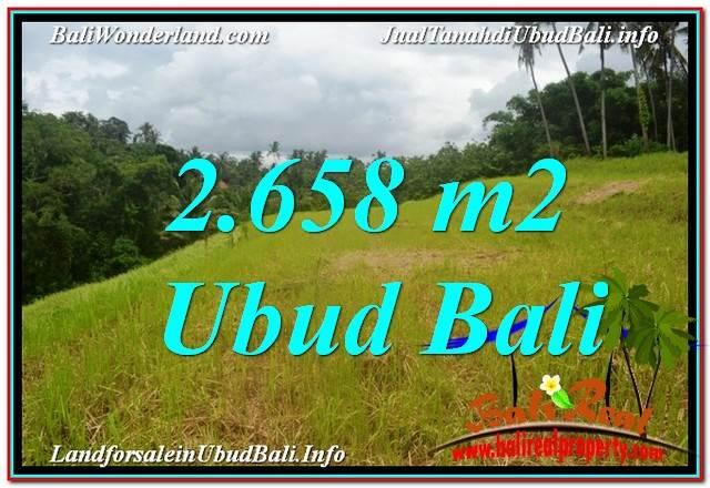 Exotic UBUD BALI 2,658 m2 LAND FOR SALE TJUB641