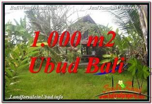 Beautiful 1,000 m2 LAND IN SENTRAL UBUD BALI FOR SALE TJUB680