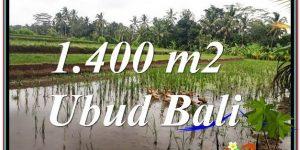 Exotic 1,400 m2 LAND IN UBUD BALI FOR SALE TJUB615